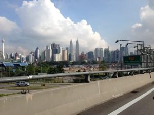 Looking across to Kuala Lumpur