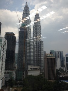 The towers of Kuala Lumpur from where I was working