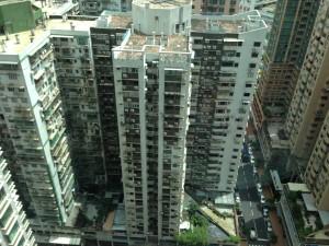 Looking down from my AirBnB window, Macau
