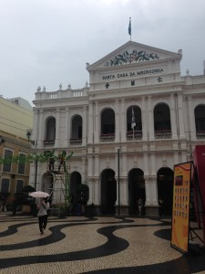 In the main square in historic Macau