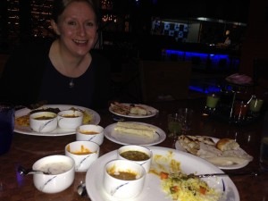 Helen and I enjoy a feast at The Great Kabab Factory, Bangkok (awesome food)