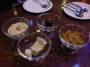 The desserts at The Great Kabab Factory