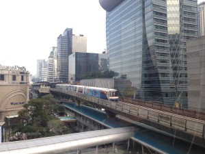 Futuristic Bangkok Sky Train