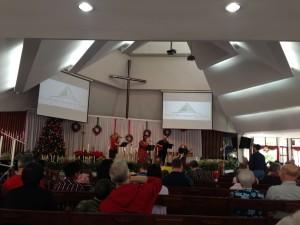 Community Church on Christmas Morning