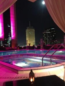 A Poolside Supper in the Fairmont Dubai