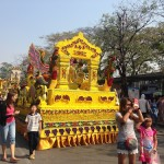 Yellow flower float