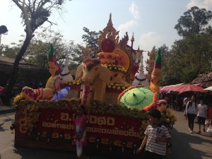 Elephant flower float