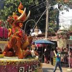 Elephant-Dragon? flower float
