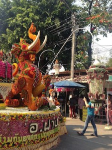 Elephant-Dragon? flower float