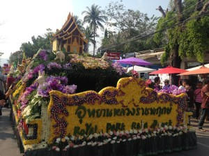 Rabbit flower float