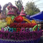 Cinderella towers flower float