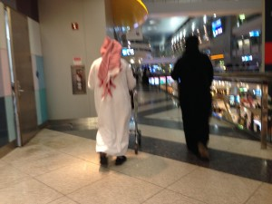 (Bad) photo of traditional clothes in Dubai airport