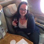 Emirates Business class upgrade: prosecco