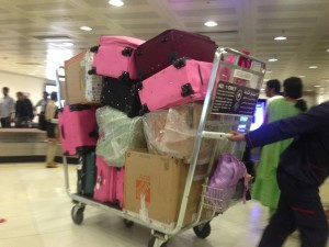 Kuwaitis like a lot of luggage (this was one family)