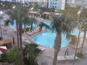 View from our Cabana Bay Hotel window