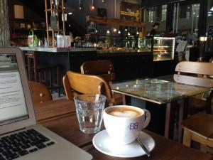 Trendy coffee shop, KL, Malaysia