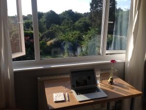 My desk in the UK