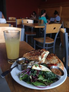 Lunch at Crema Bakery, Portland